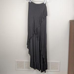 Bailey 44 High Low Ruffle Black Skirt